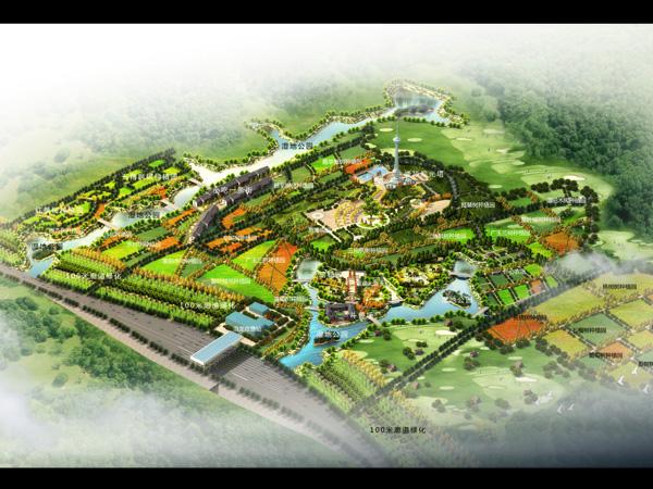 洛阳丰李万亩桃园景观设计规划案例